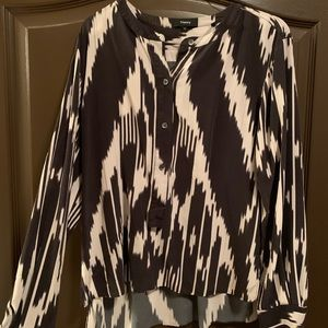 Theory Silky Blouse - Abstract print